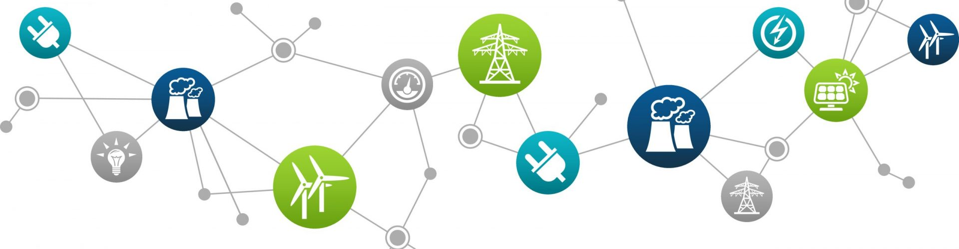 electricity / energy vector illustration. Concept with connected icons related to energy transmission, power supply and electric power infrastructure.